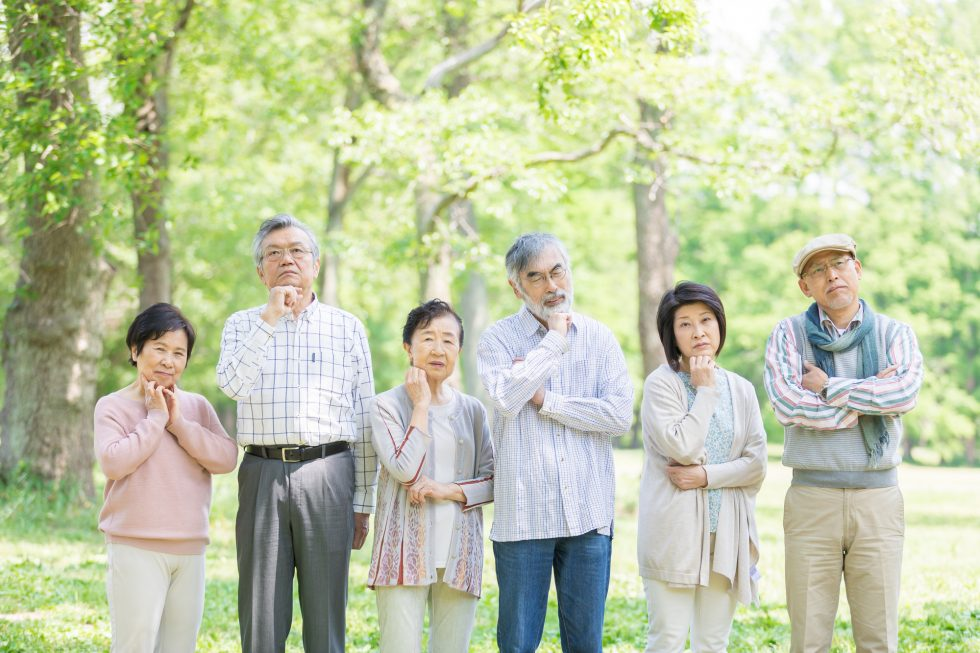 高齢者が価値観について考える図